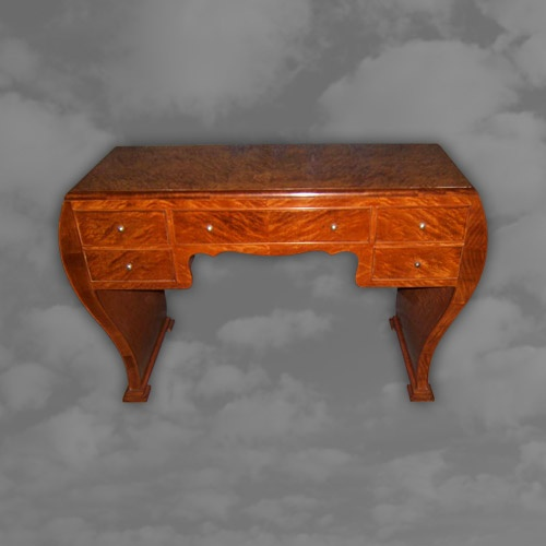 French Art Deco Satin Birch Side Table
