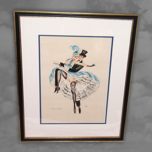 A French water colour, dancing scene