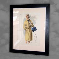 One from a Selection of 1960s Fashion Prints, Re-framed