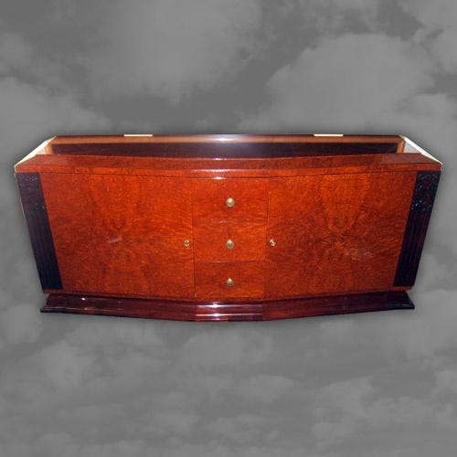 Spectacular French Amboyna Side Cabinet.