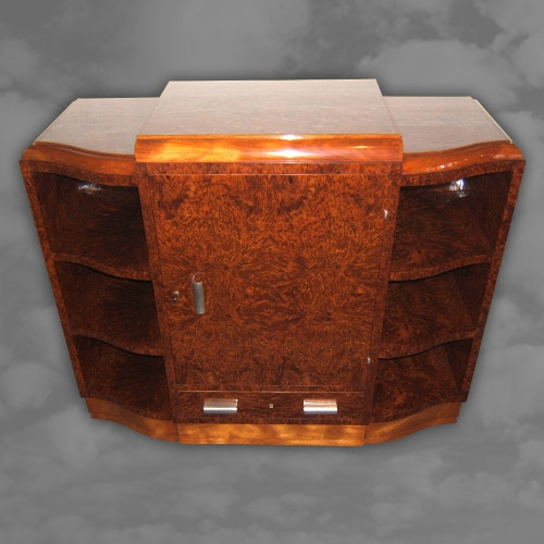 Superior Quality French Amboyna Side Cabinet