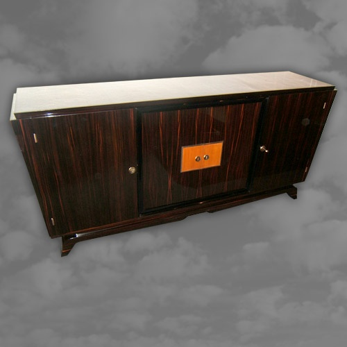 Superior Quality French Macassar Ebony Four Door Side Cabinet