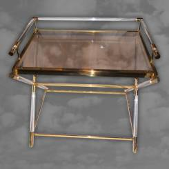 An unusual 1970s butlers tray of rectangular form