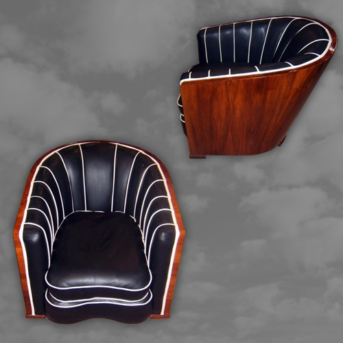 Fabulous Pair of English Walnut Framed Tub Chairs