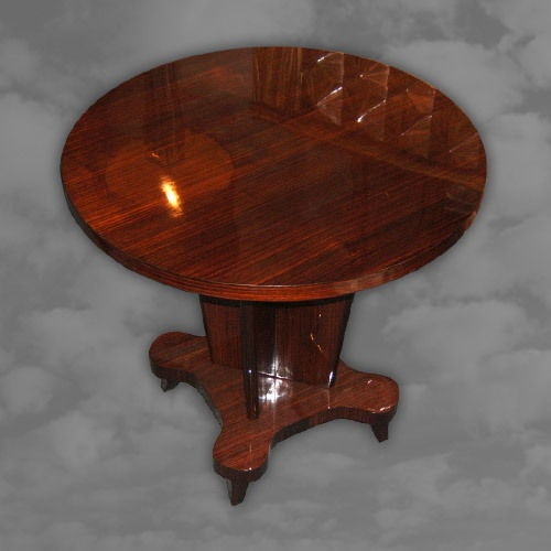 A French circular rosewood occasional table