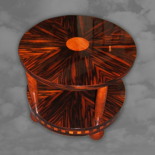 A superb coffee table mainly in macassar ebony