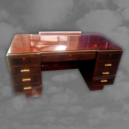 A magnificent French macassar ebony desk