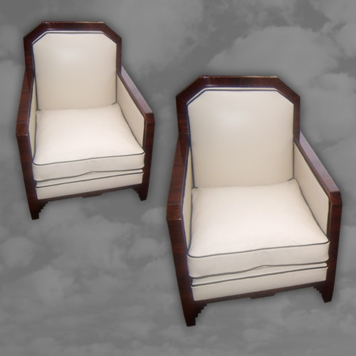Part of a superb French Art Deco mahogany framed sitting room suite