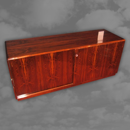A 1970s Danish rosewood cabinet of rectangular form
