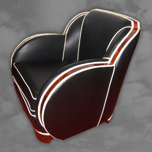 Superb Pair of English Cloud Shaped Arm Chairs