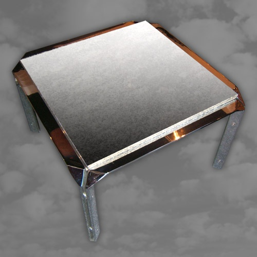 A superb quality 1970s chrome coffee table of square form