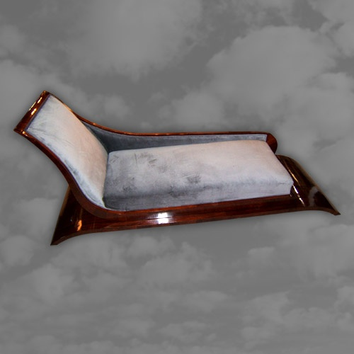 A magnificent French rosewood daybed