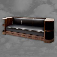 Spectacular French Art Deco rosewood settee