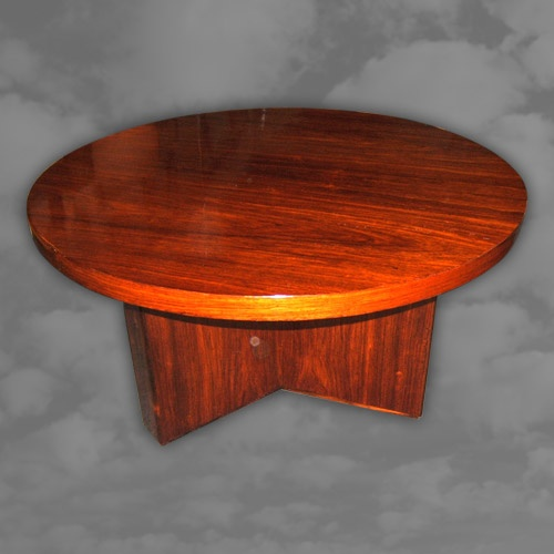 A superb quality French Art Deco rosewood circular coffee table