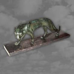 M. FONT. French Art Deco bronzed panther