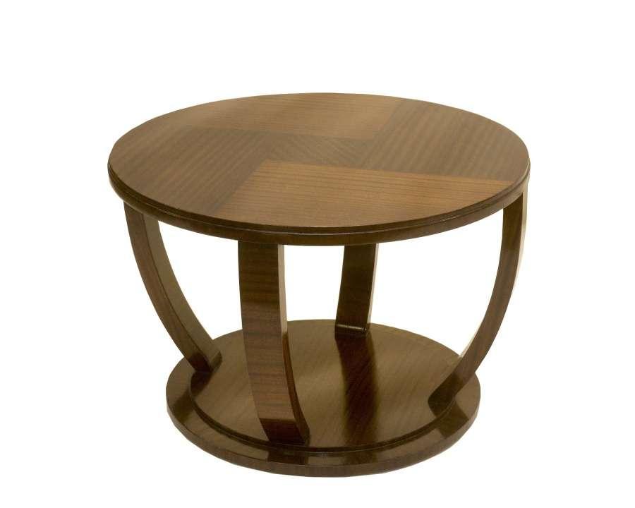 Art Deco Circular Mahogany Coffee Table