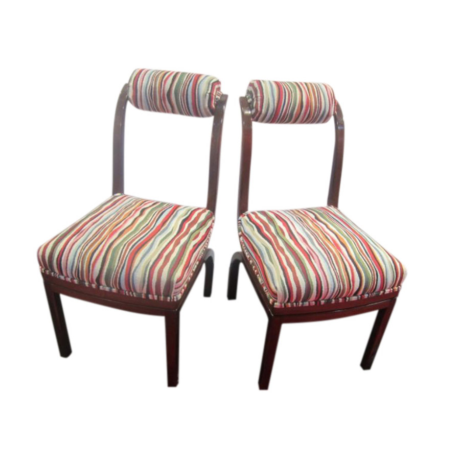 Pair of Shaped Walnut Chairs