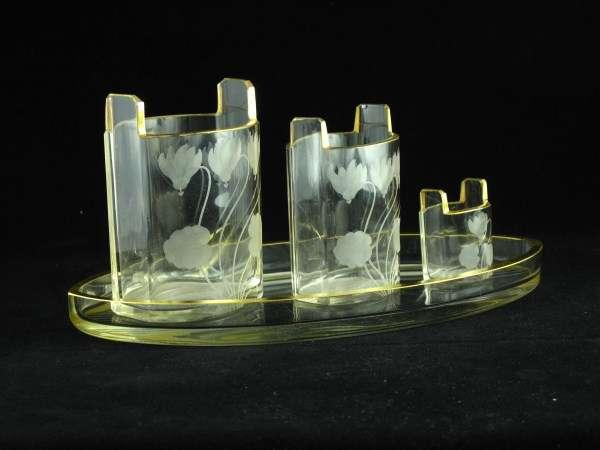 Rare Seccessionist Glass Tray