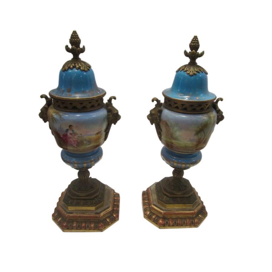 Fine Pair of Continental Urns