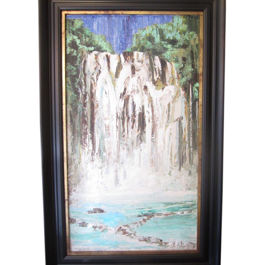 "Striking Oil On Board ""Waterfall"""