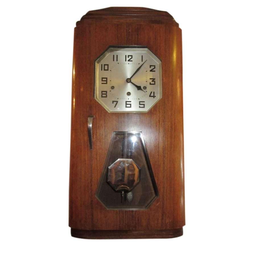 Quality Art Deco Rosewood Clock