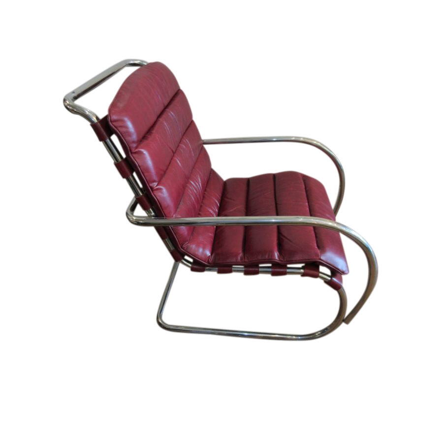 Stunning Chrome & Leather Chair