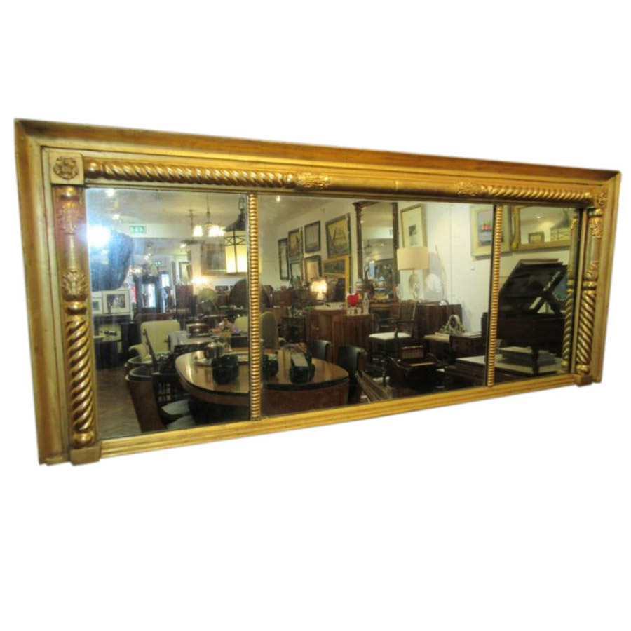 19th Century Gilt Compartmental Mirror
