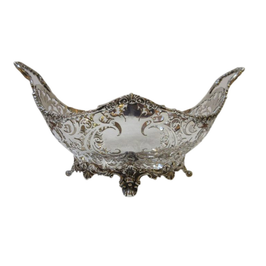 Delightful Edwardian Finely Chased Silver Bowl
