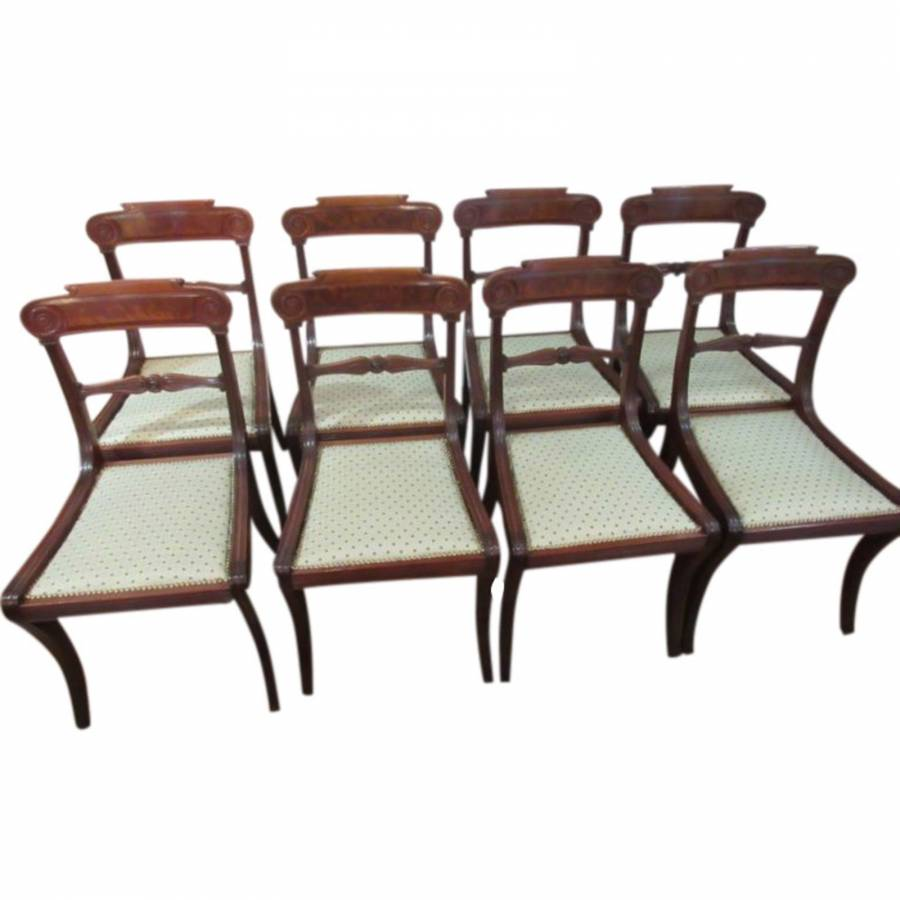 Fine Set of Regency Mahogany Dining Chairs : August 15 004 from www.niallmullenantiques.com size 900 x 900 jpeg 49kB