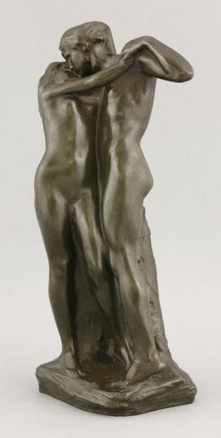 A Patinated Bronze Group