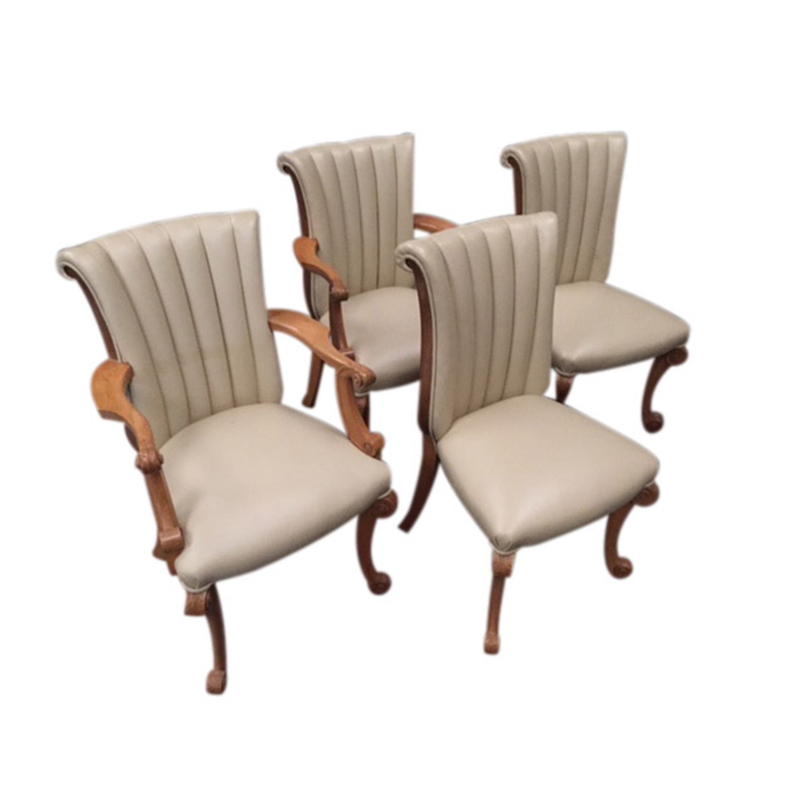 A QUALITY SET OF 6 ART DECO DINING CHAIRS