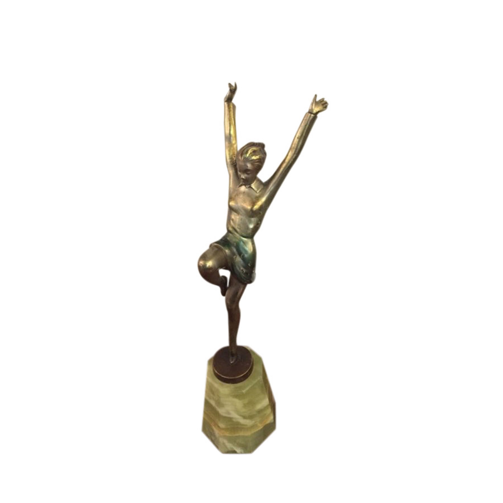 Stunning Cold Painted Bronze Dancer