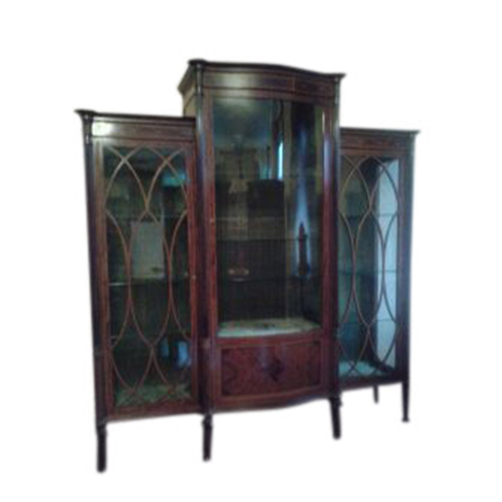 Superior Quality Edwardian Display Cabinet