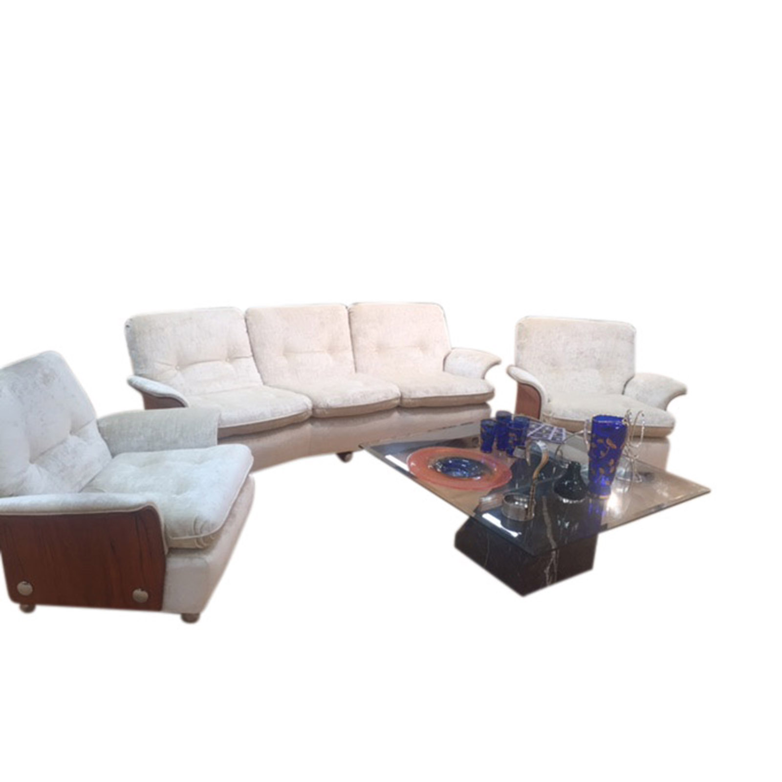 Very Cool Vintage Three Piece Lounge Suite
