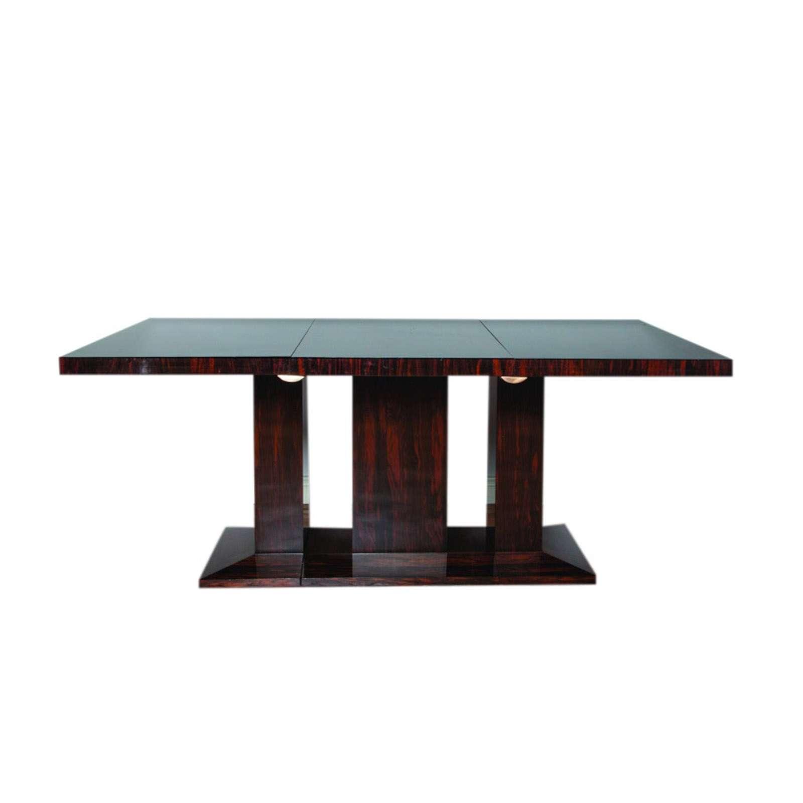Exceptional Art Deco Coromandle Three Part Centre Table