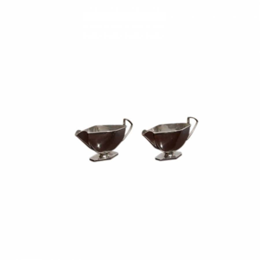 Pair of Art Deco Silver Sauce Boats