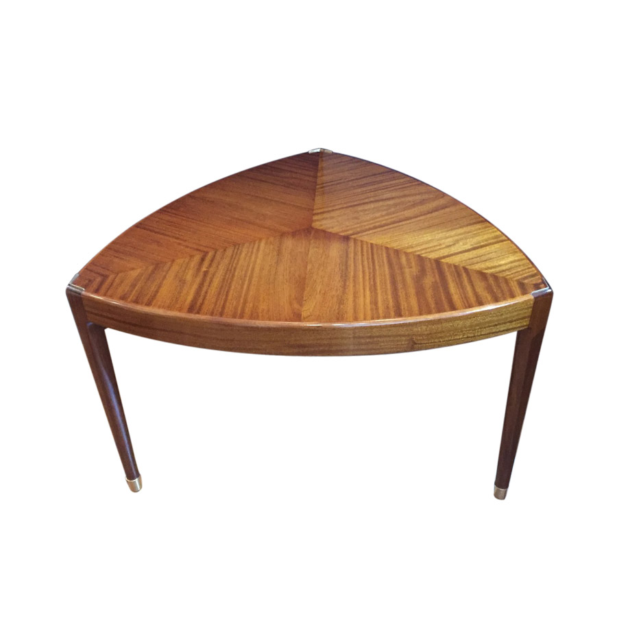Very unusual shaped walnut coffee table for Unusual shaped dining tables