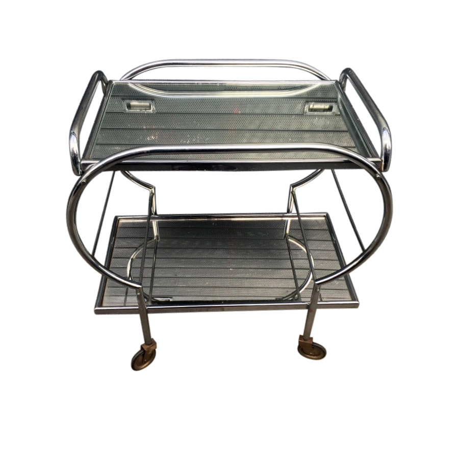 Cool Original Chrome Shaped Two Tier Trolley