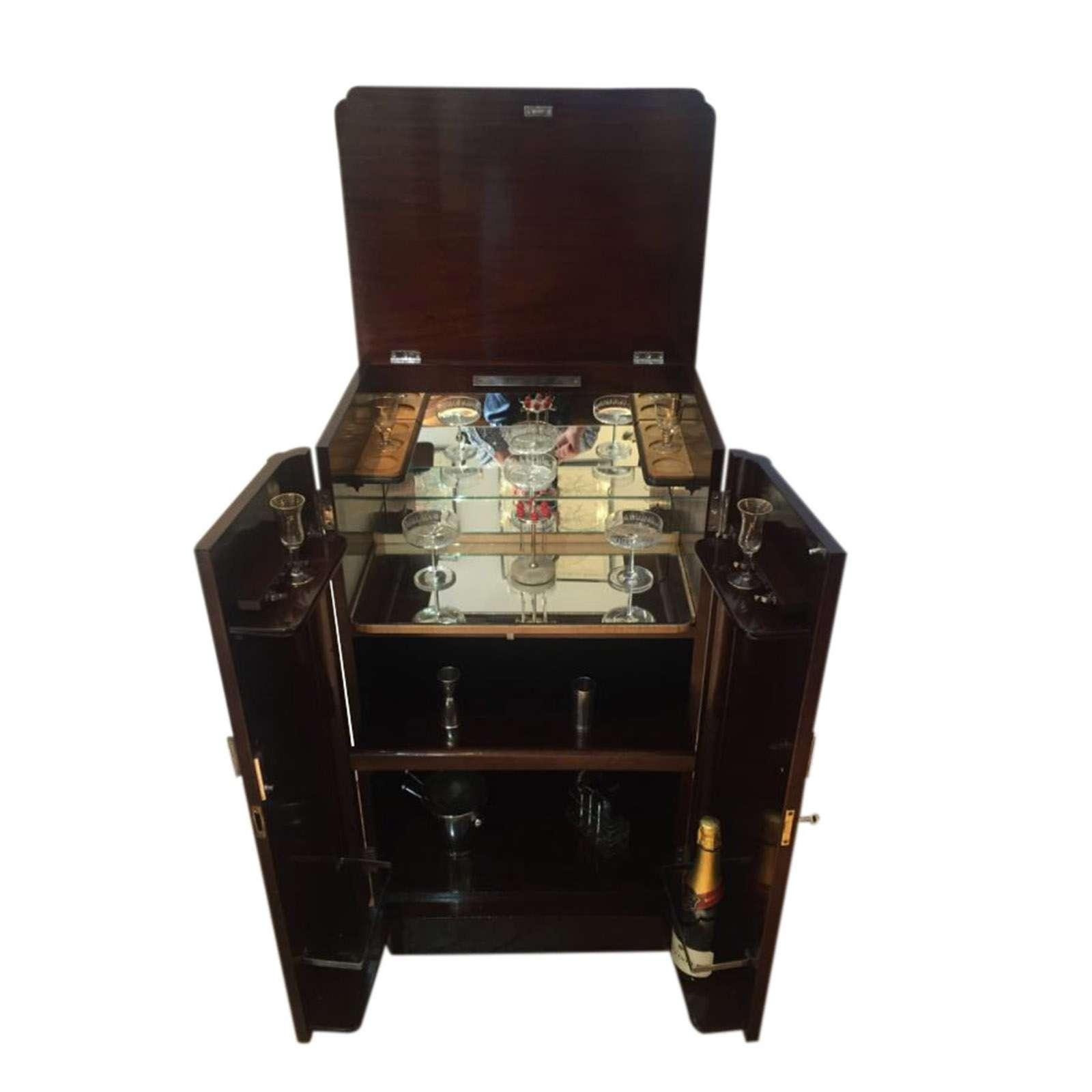 Stunning Diminutive Art Deco Cocktail Cabinet