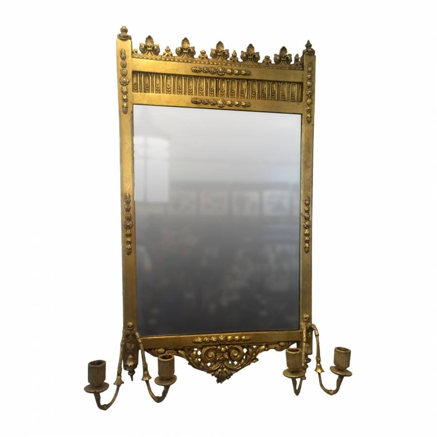 A Pair of 19th Century Gesso Pier Mirrors