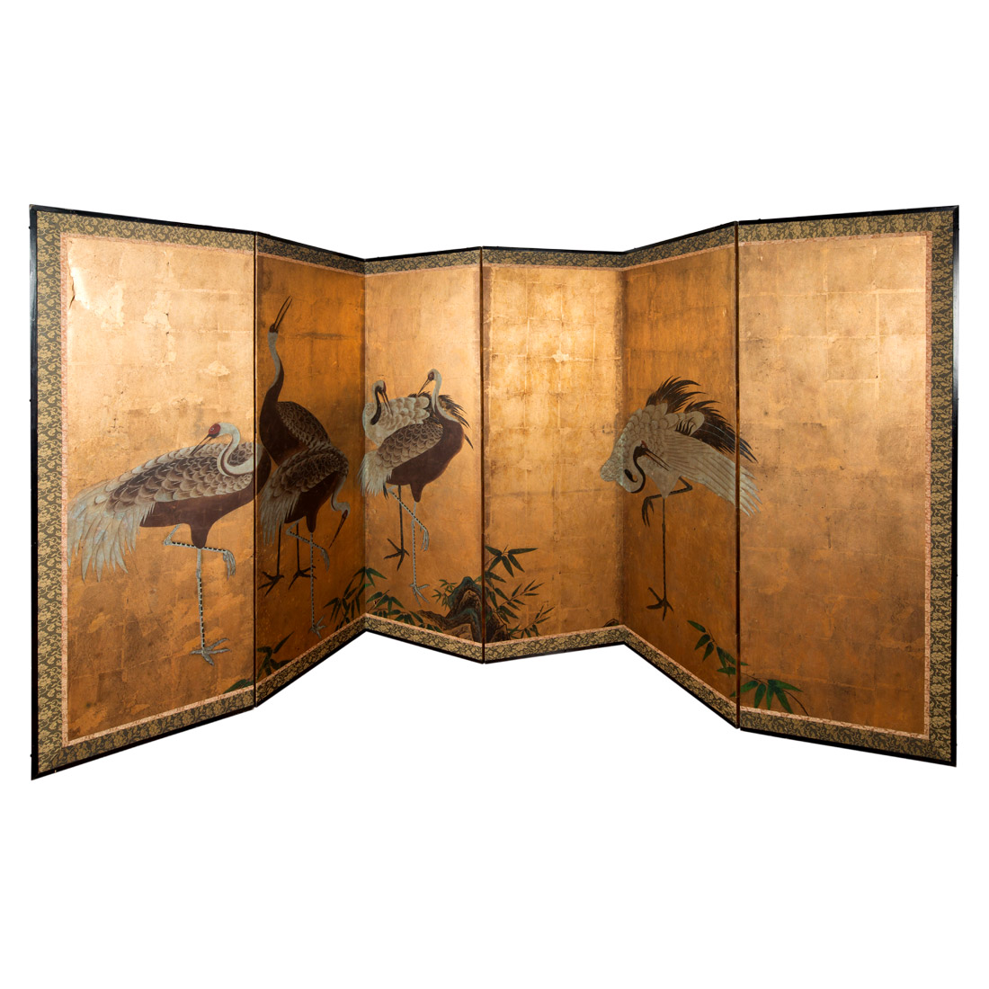 19th Century Japanese 6 fold screen