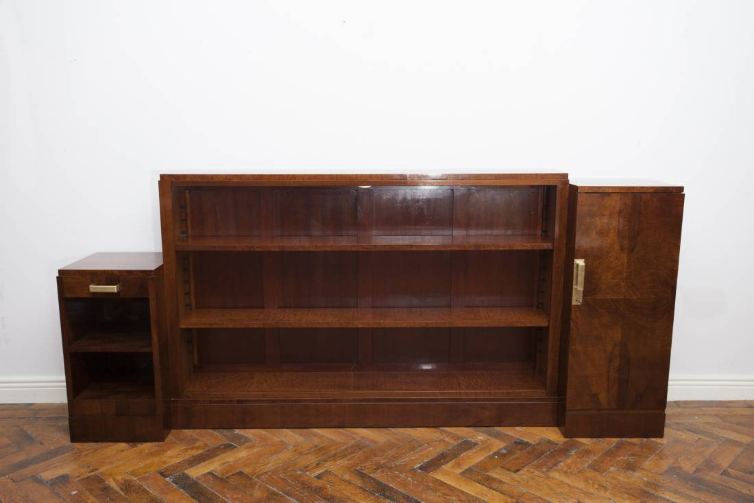 Stunning Art Deco Asymmetrical open bookcase