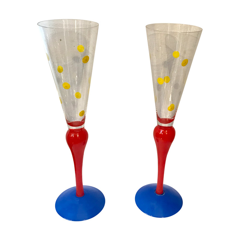 A Pair of Tall Spotted Glasses