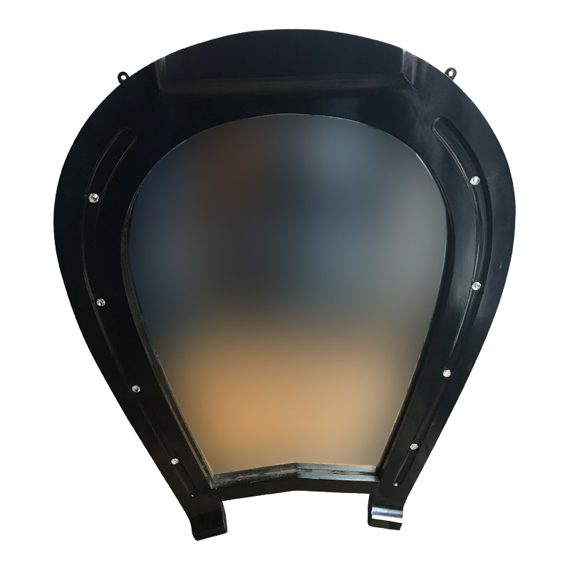 Quirky Art Deco Horse Shoe Shaped Mirror