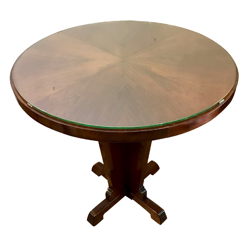 Art Deco Circular Walnut Occasional Table