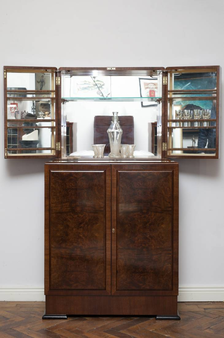 Very Smart Art Deco Cocktail Cabinet