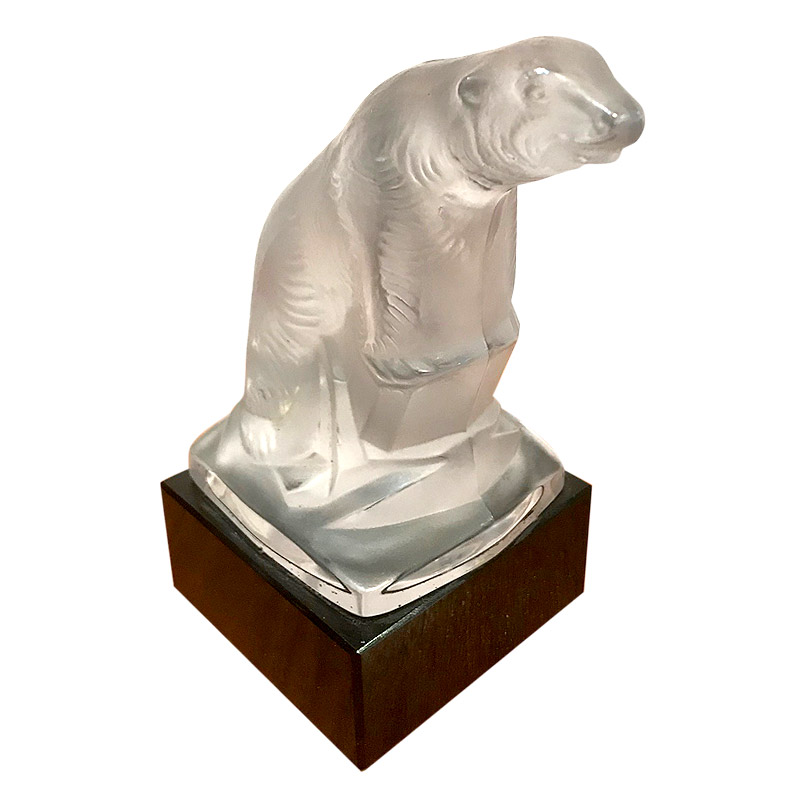 QUIRKY ART DECO GLASS POLAR BEAR