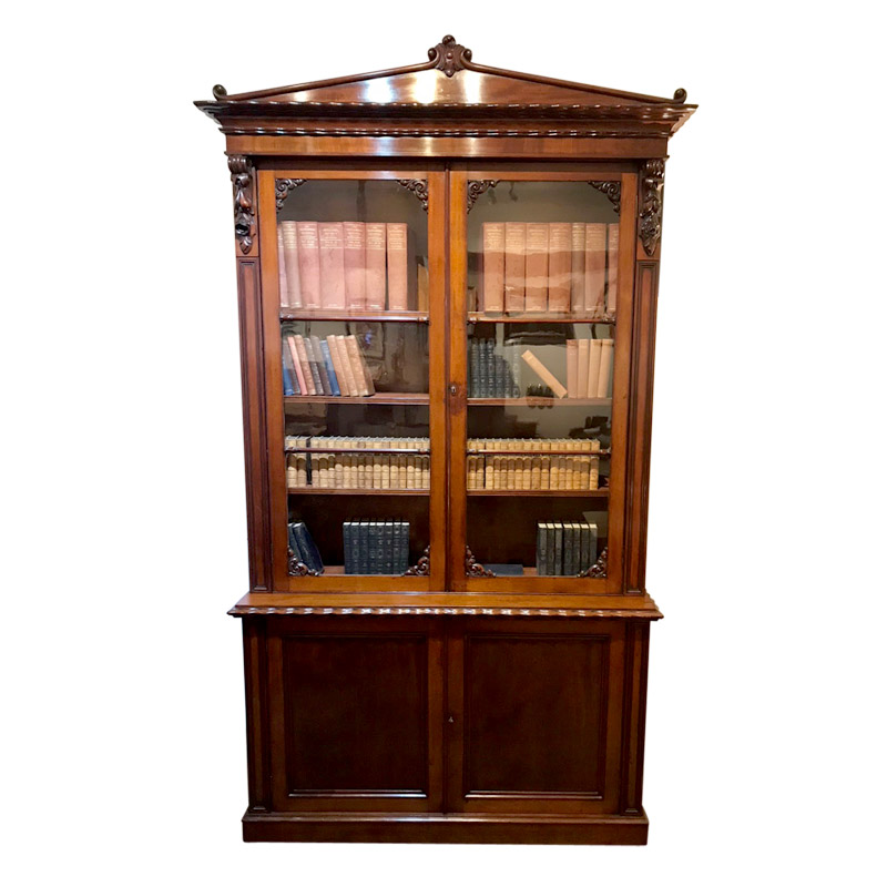 MAGNIFICENT STRAHAN OF DUBLIN TWO DOOR BOOKCASE
