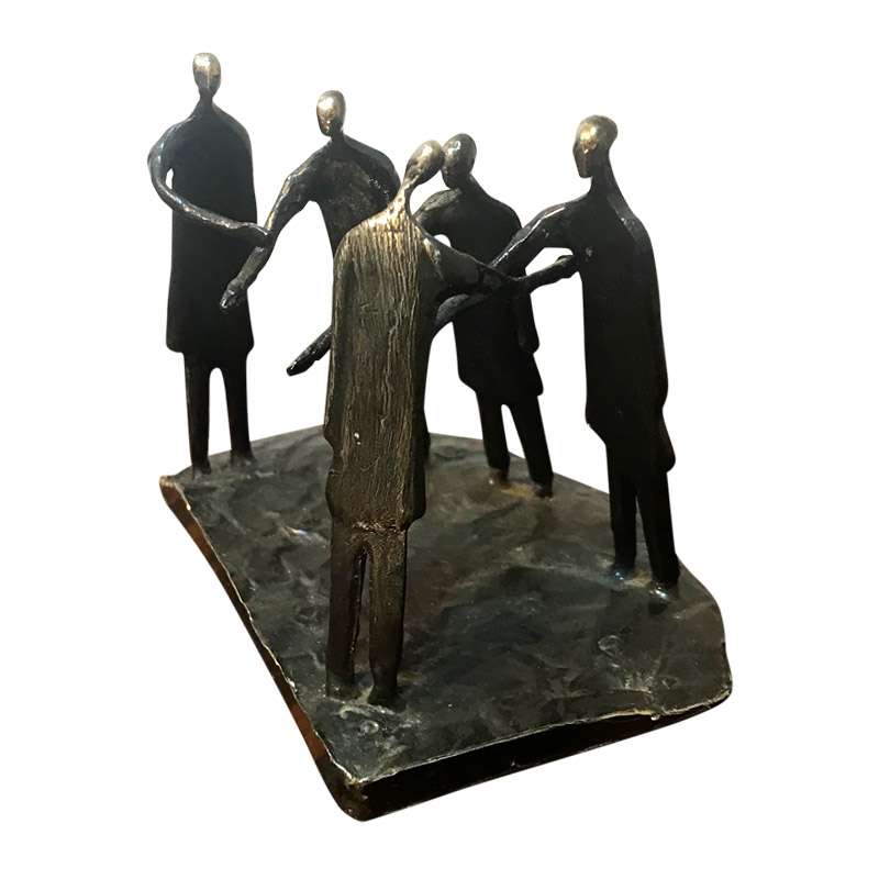 """THE HAND SHAKE"" BRONZE GROUP"