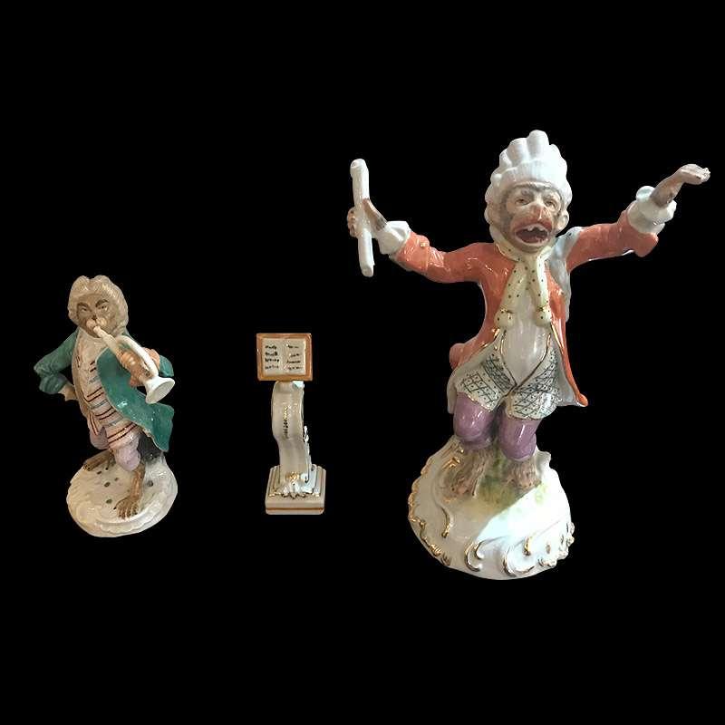 Meissen Monkey Figurines